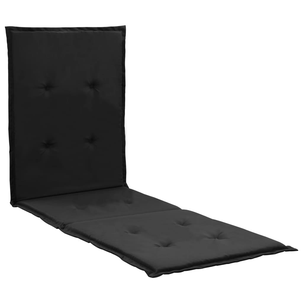 vidaXL Pernă de șezlong, negru, 180 x 55 x 3 cm vidaxl.ro