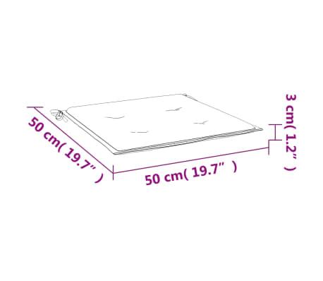 vidaXL Cuscini per Sedie da Giardino 2 pz Rossi 50x50x3 cm