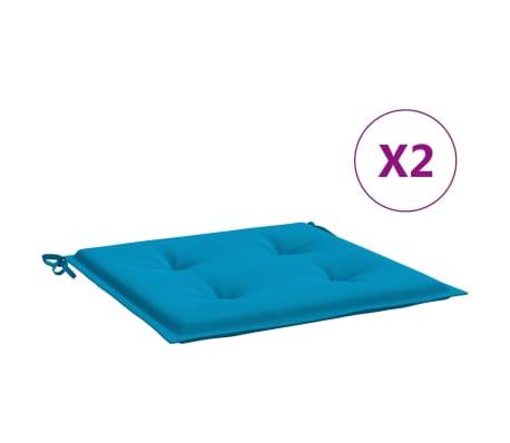 vidaXL Tuinstoelkussens 2 st 50x50x3 cm blauw
