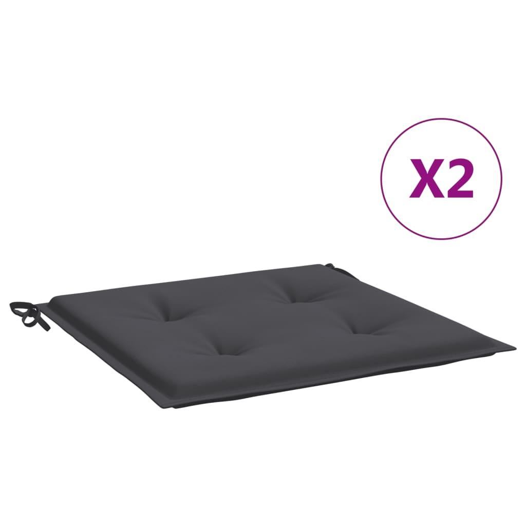 vidaXL Perne pentru scaun de grădină, 2 buc., antracit, 50 x 50 x 3 cm vidaxl.ro