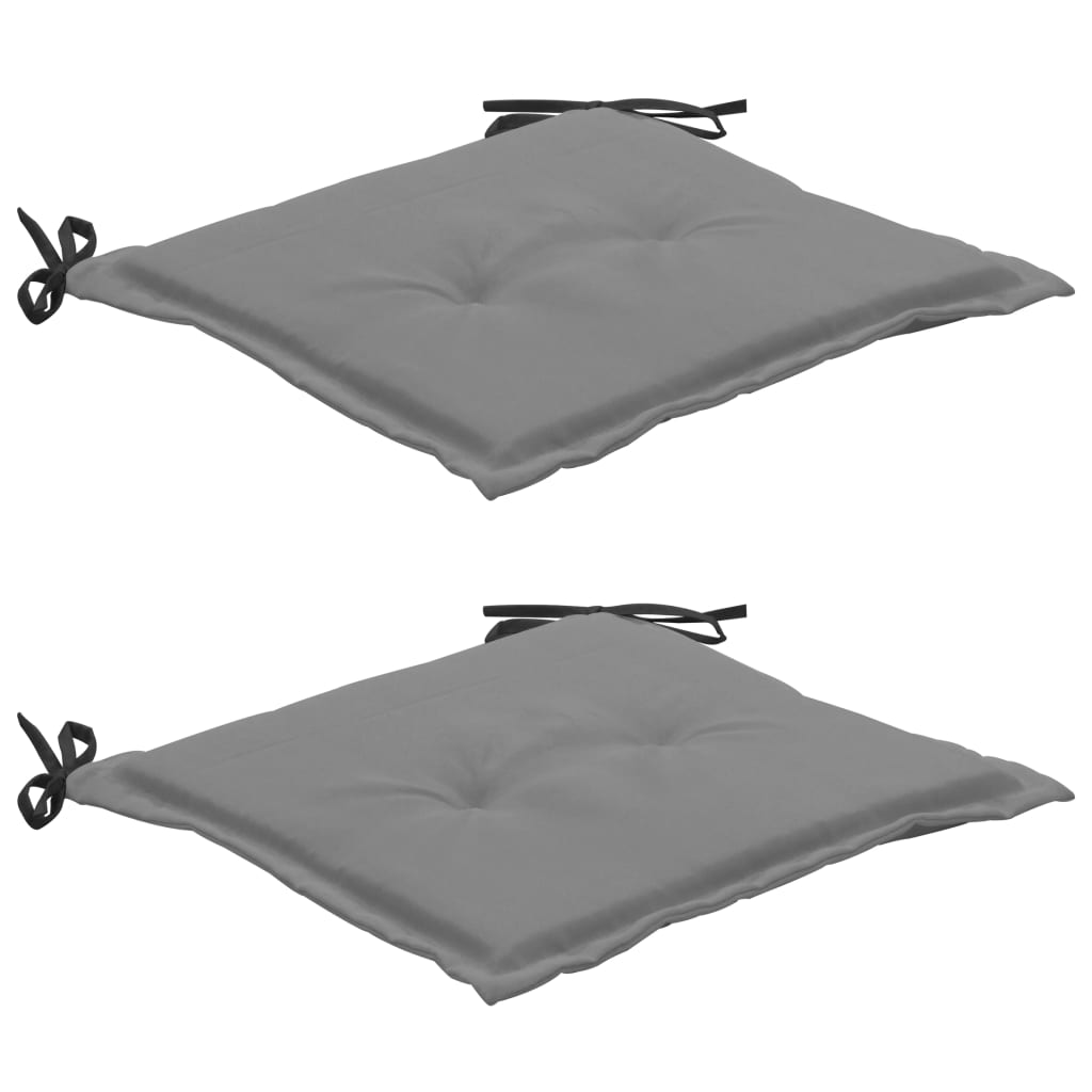 vidaXL hynder til havestole 2 stk. 50x50x3 cm sort og grå