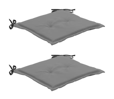 vidaXL Tuinstoelkussens 2 st 50x50x3 cm zwart en grijs