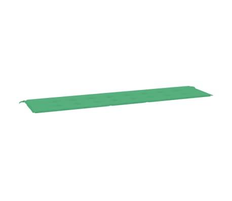 "vidaXL Garden Bench Cushion Green 78.7""x19.7""x1.2"""