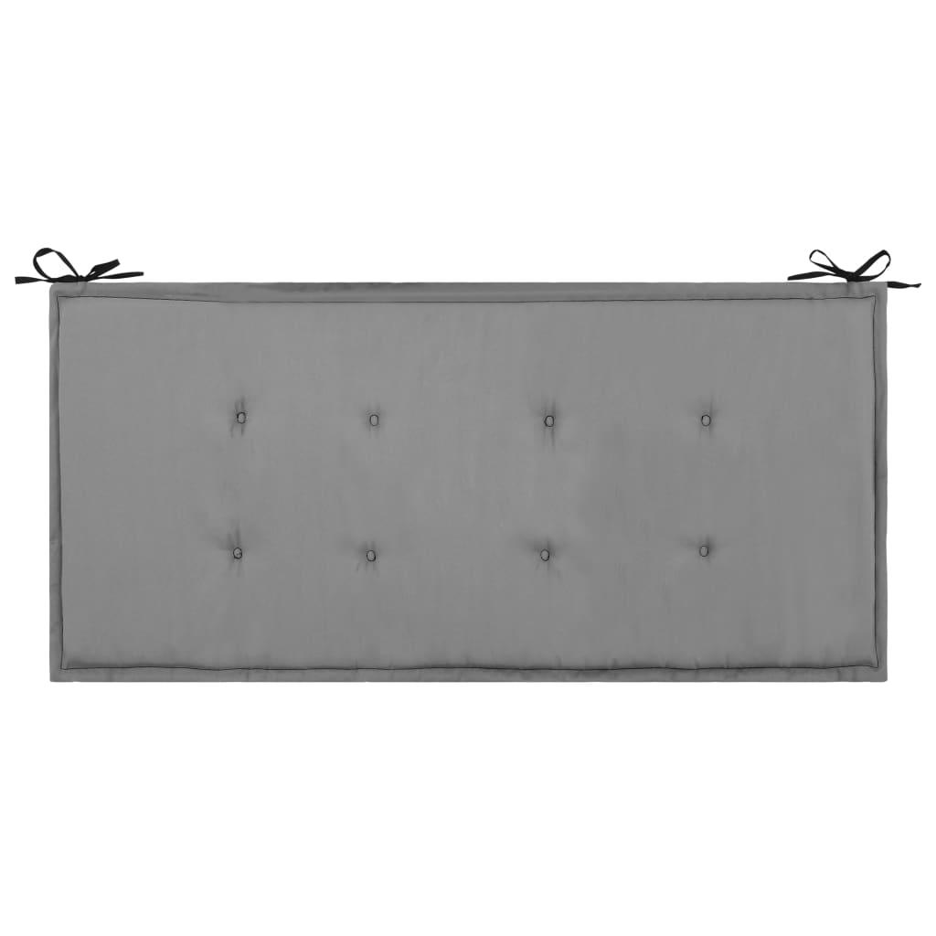 vidaXL Pernă pentru bancă de grădină, negru și gri, 100 x 50 x 3 cm imagine vidaxl.ro