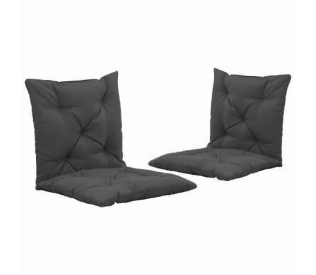 vidaXL Podušky pro závěsné houpací křeslo 2 ks antracit 50 cm textil