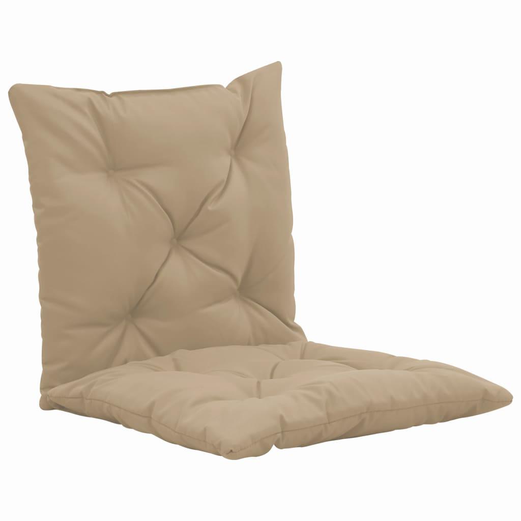 vidaXL Schommelstoelkussens 2 st 50 cm stof beige