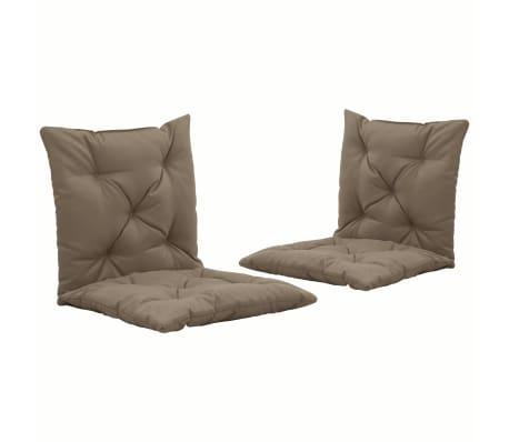 vidaXL Podušky pro závěsné houpací křeslo 2 ks taupe 50 cm textil