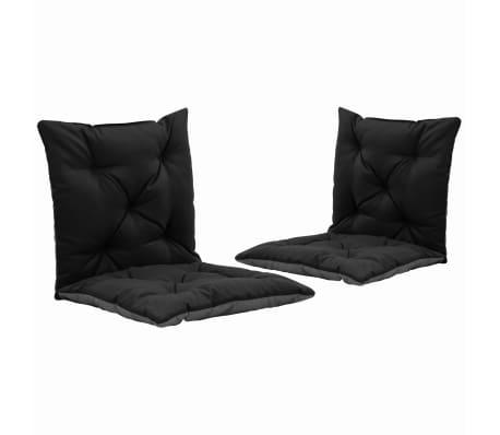 vidaXL Podušky pro závěsné houpací křeslo 2 ks černo-šedé 50 cm textil