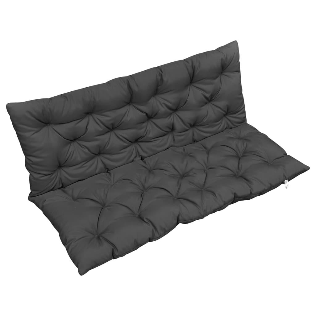 vidaXL Pernă pentru balansoar, antracit, 120 cm, material textil vidaxl.ro