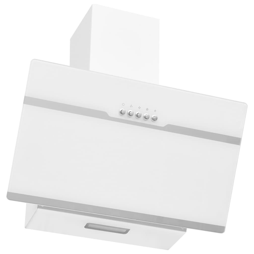 vidaXL Hotă de perete alb 60 cm oțel inoxidabil și sticlă securizată poza vidaxl.ro