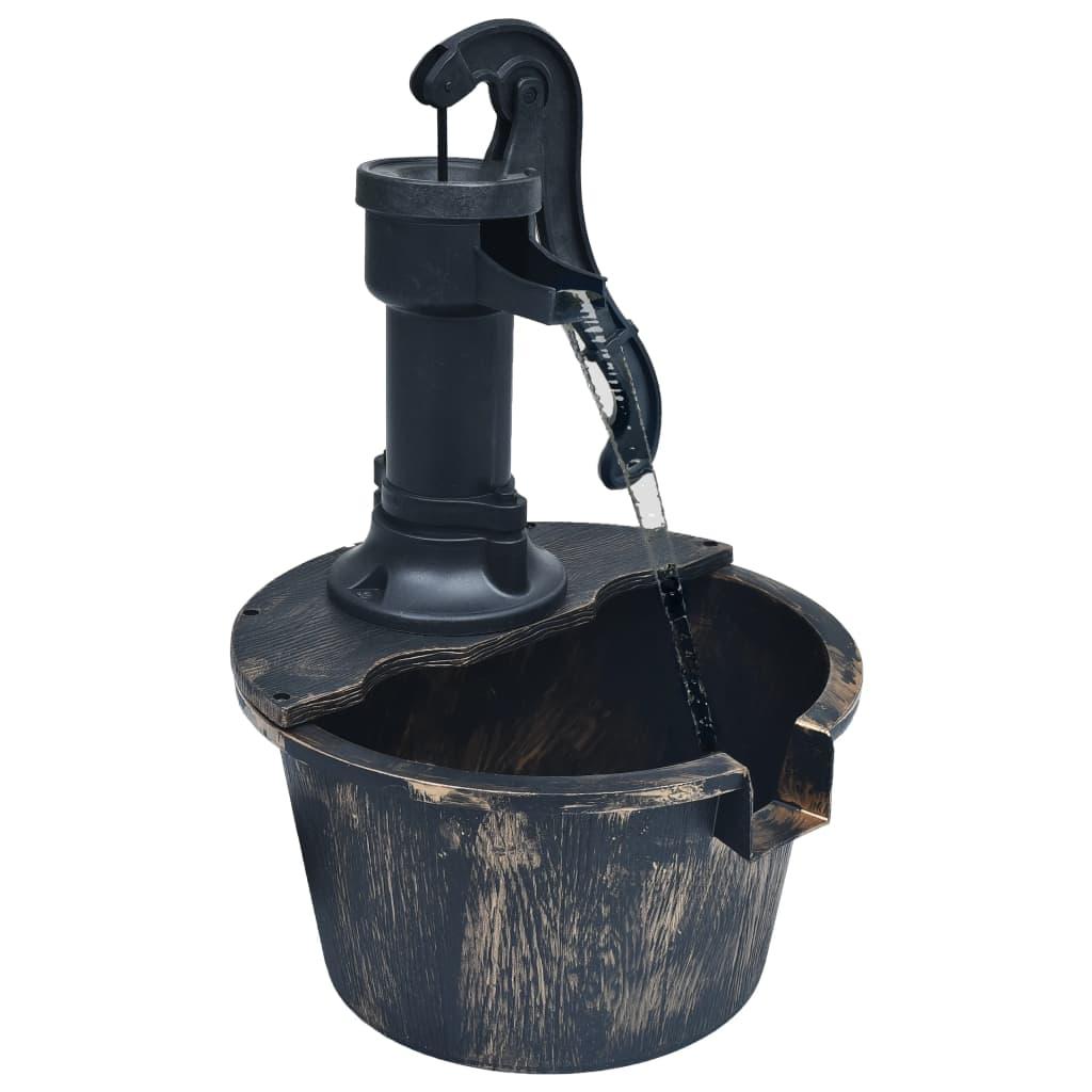 vidaXL Fântână de apă de grădină cu butoi, cu pompă poza vidaxl.ro