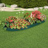 vidaXL Lawn Edgings 10 pcs Green 65x15 cm PP