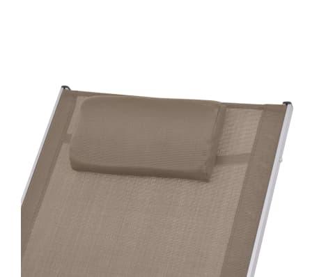 vidaXL Scaun balansoar de exterior, gri taupe, textilenă[5/7]