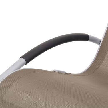 vidaXL Scaun balansoar de exterior, gri taupe, textilenă[6/7]