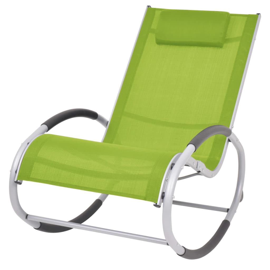 vidaXL Scaun balansoar de exterior, verde, textilenă imagine vidaxl.ro