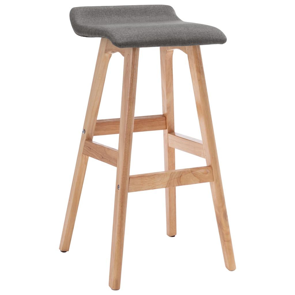 Barová židle tmavě šedá textil