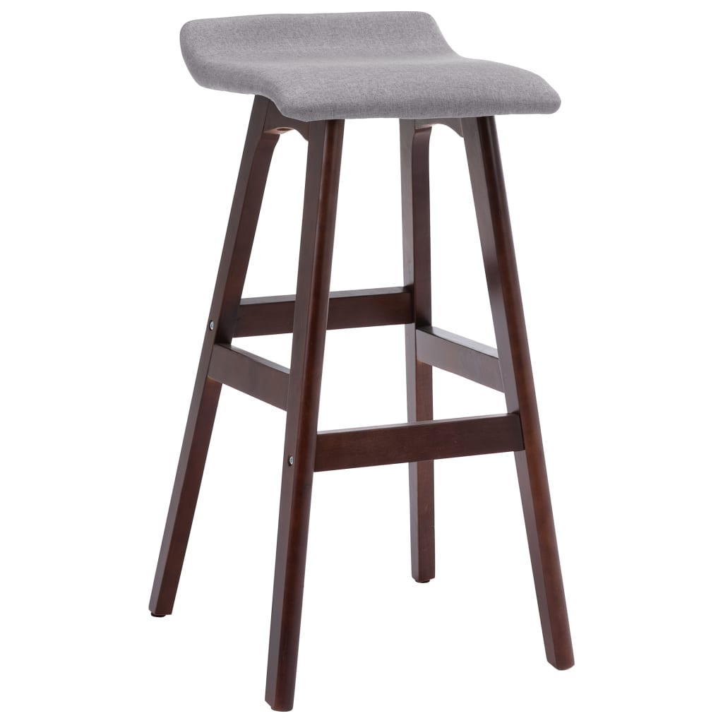 vidaXL Chaise de bar Taupe Tissu