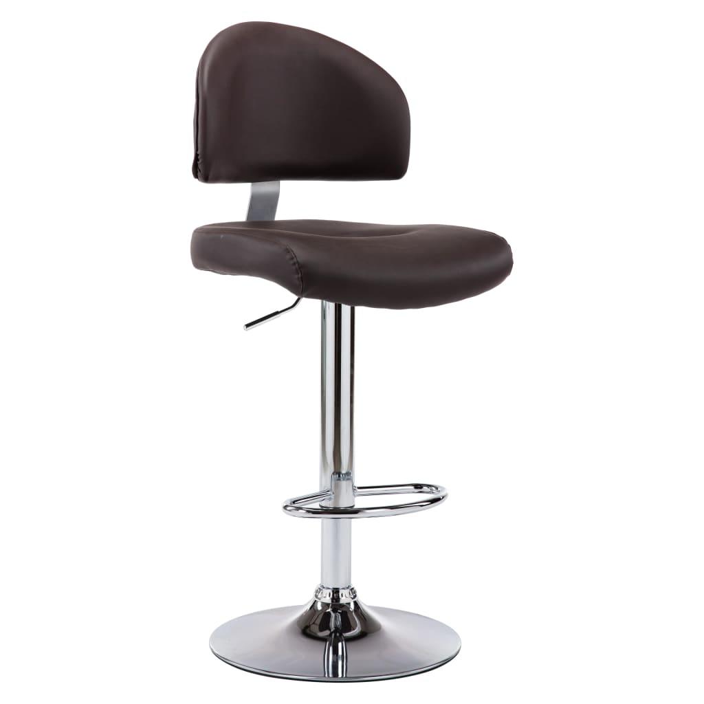 Barová stolička hnědá umělá kůže