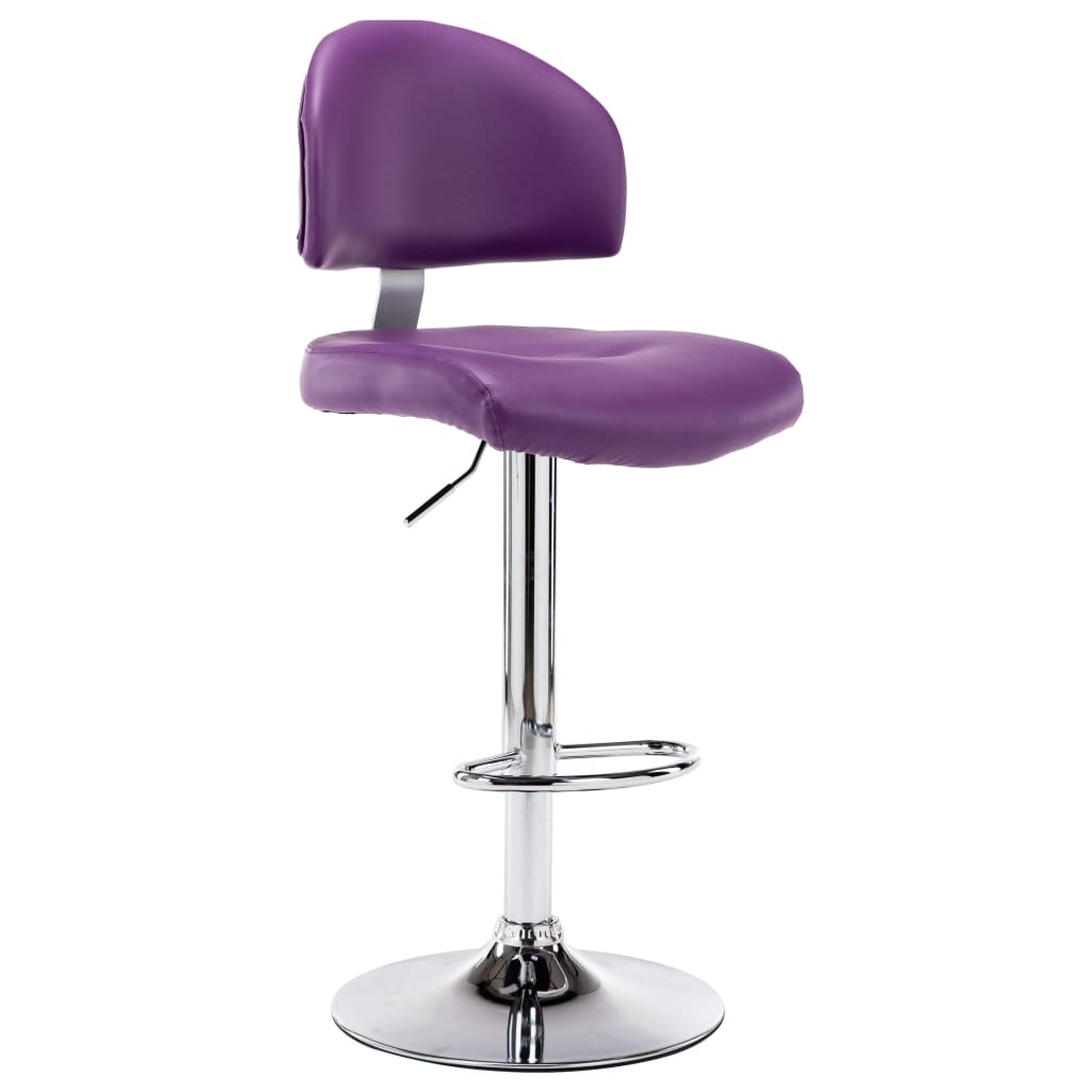 Barová stolička fialová umělá kůže