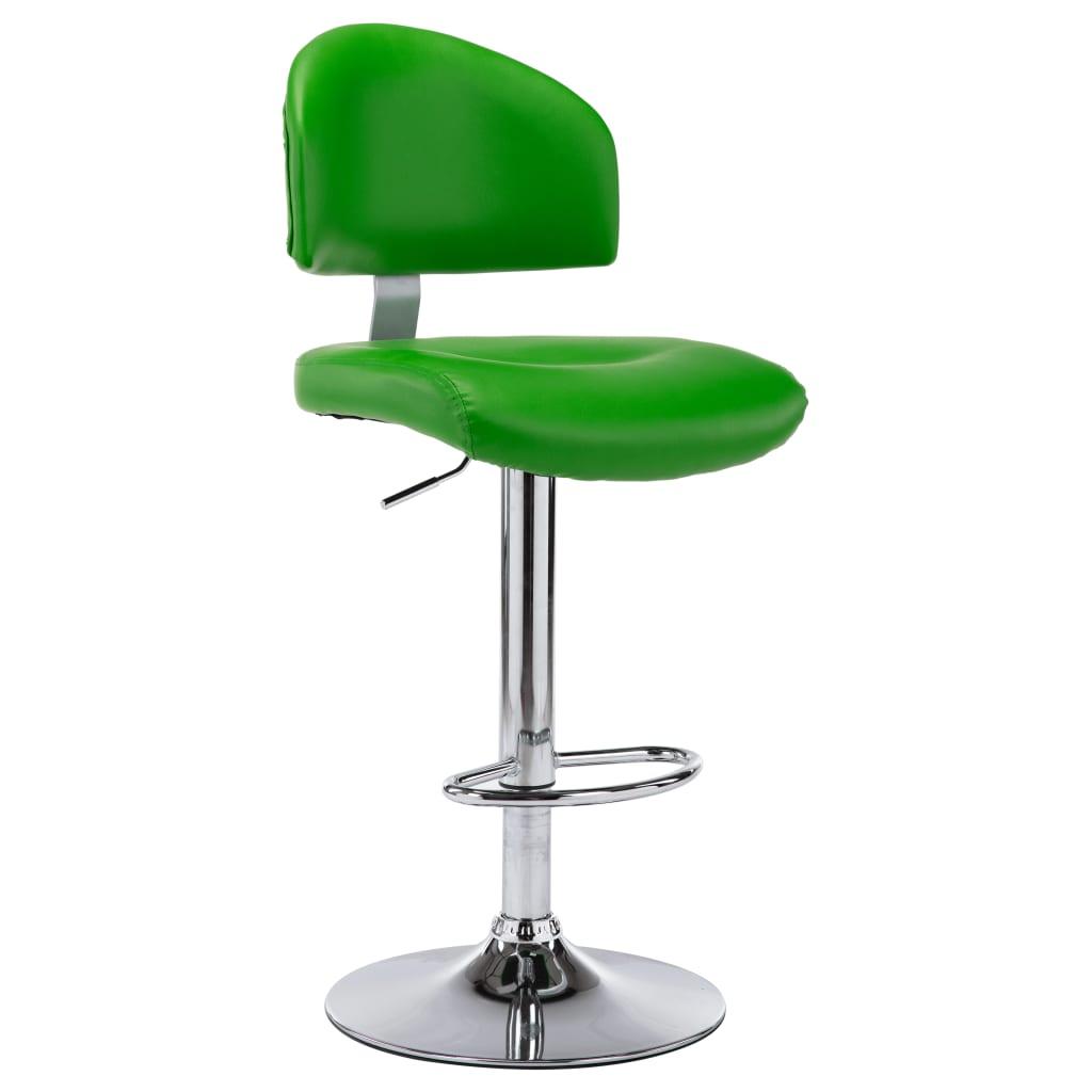 vidaXL Scaun de bar, verde, piele ecologică imagine vidaxl.ro