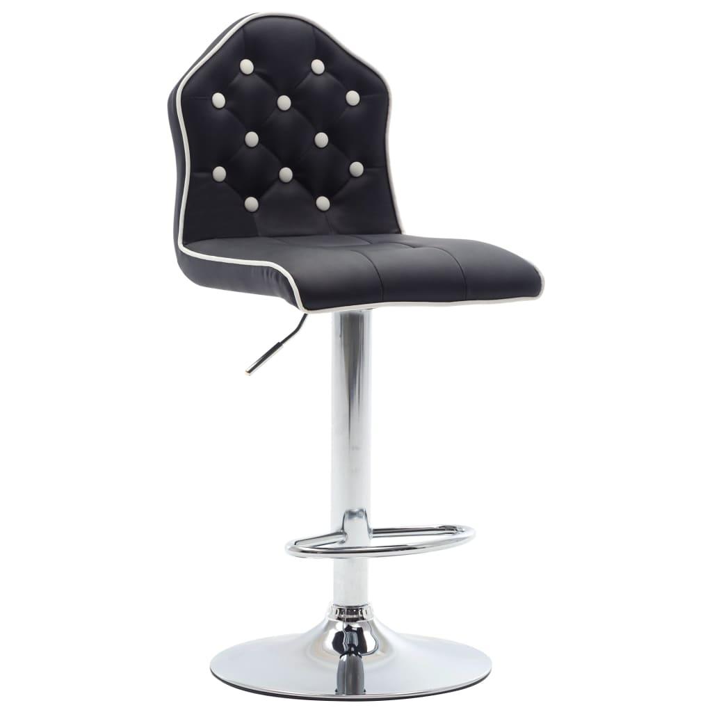 vidaXL Barová stolička černá umělá kůže