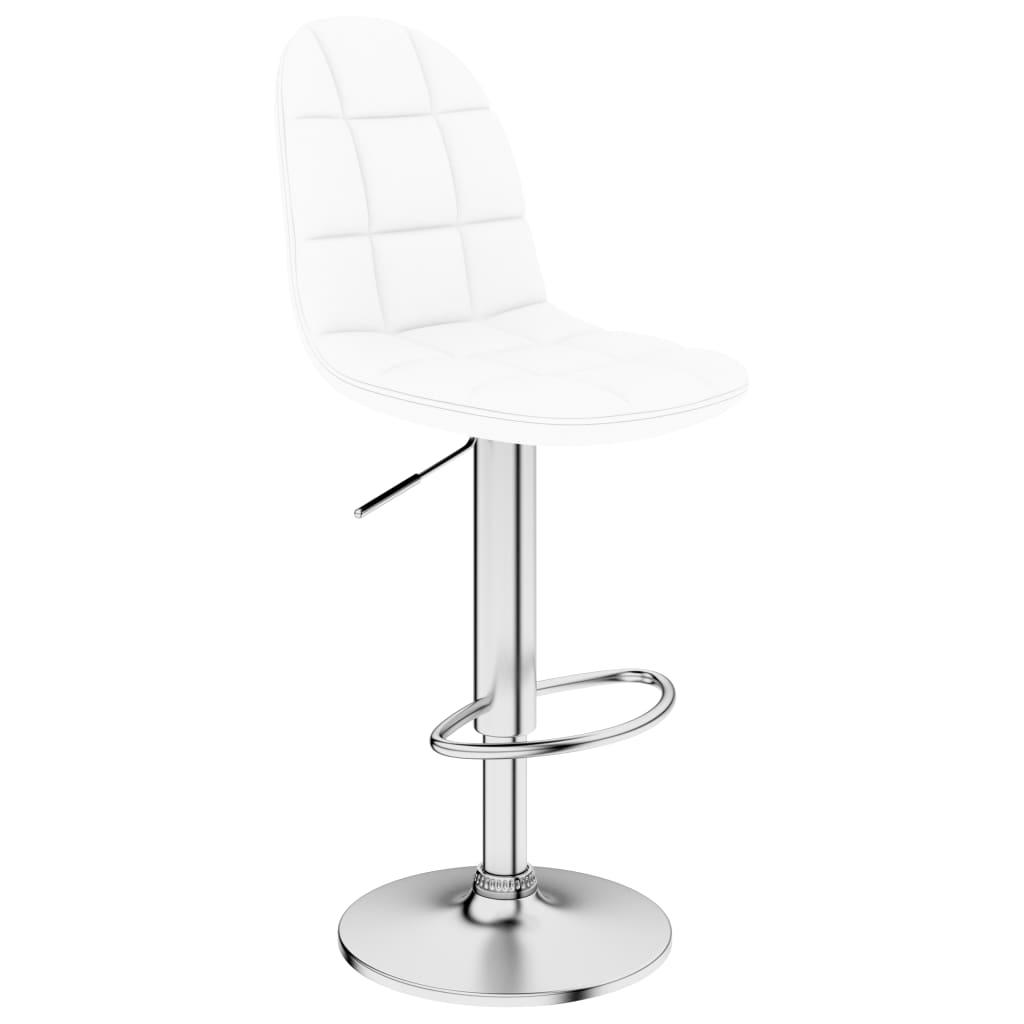Barová stolička bílá umělá kůže