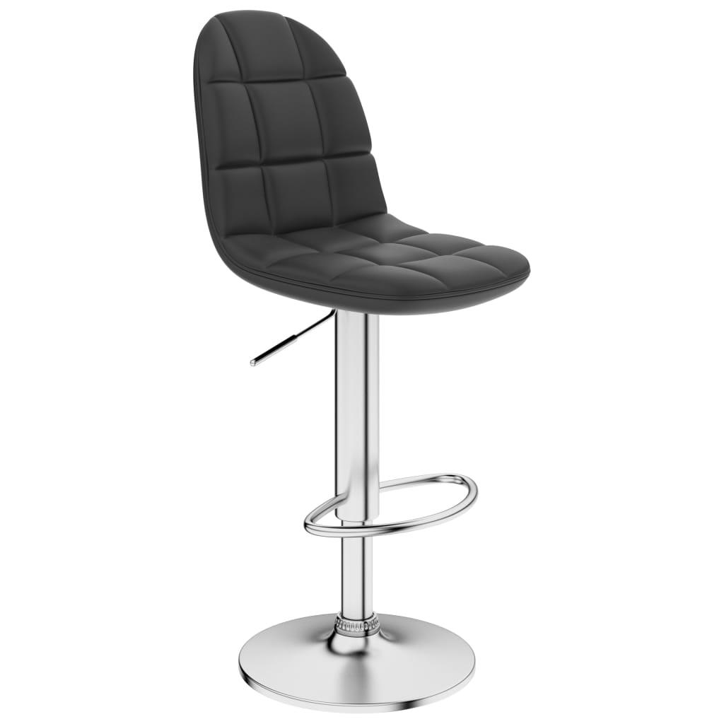 Barová stolička šedá umělá kůže