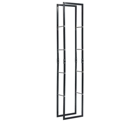 vidaXL Vedställ svart 40x25x200 cm stål