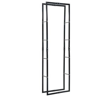 vidaXL Rastel pentru lemne de foc, negru, 60x25x200 cm, oțel