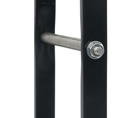 vidaXL Stovas malkoms, juodos spalvos, 60x25x200cm, plienas[6/7]