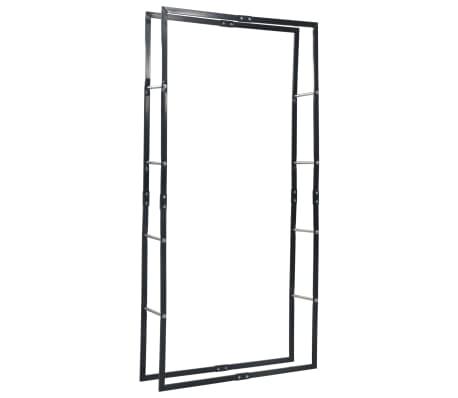 vidaXL Vedställ svart 100x25x200 cm stål