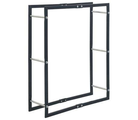 vidaXL Vedställ svart 80x25x100 cm stål