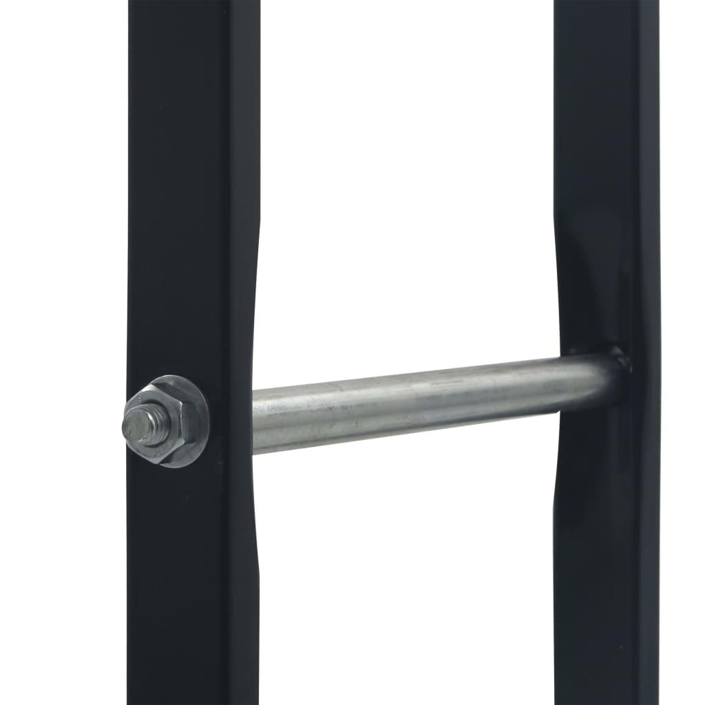 vidaXL Haardhoutrek 100x25x100 cm staal zwart