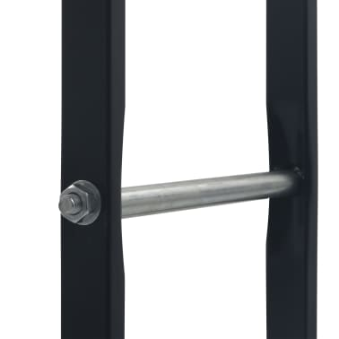 vidaXL Stovas malkoms, juodos spalvos, 100x25x100cm, plienas[5/7]