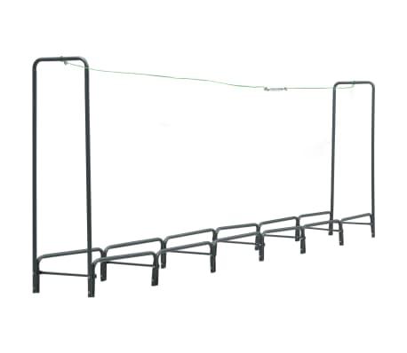 vidaXL Vedställ antracit 360x35x120 cm stål