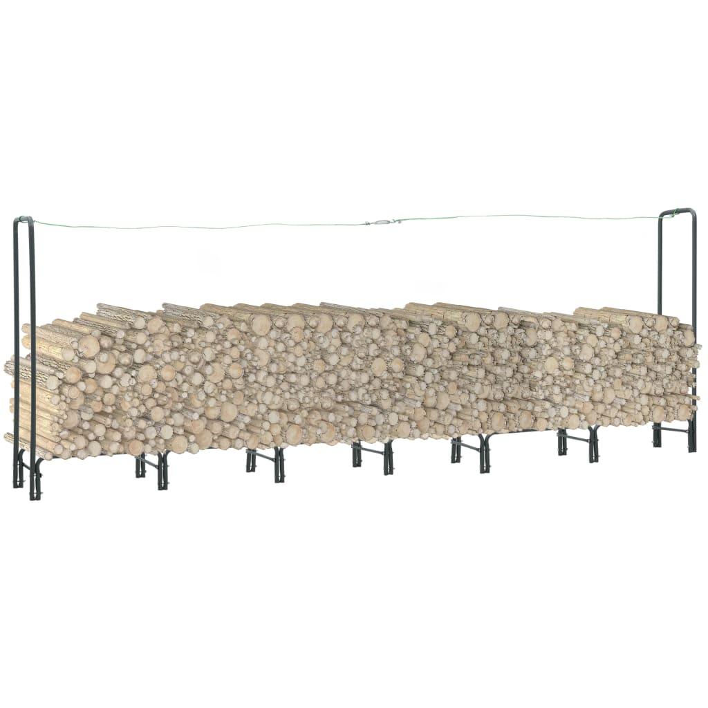 vidaXL Rastel pentru lemne de foc, antracit, 360x35x120 cm, oțel imagine vidaxl.ro