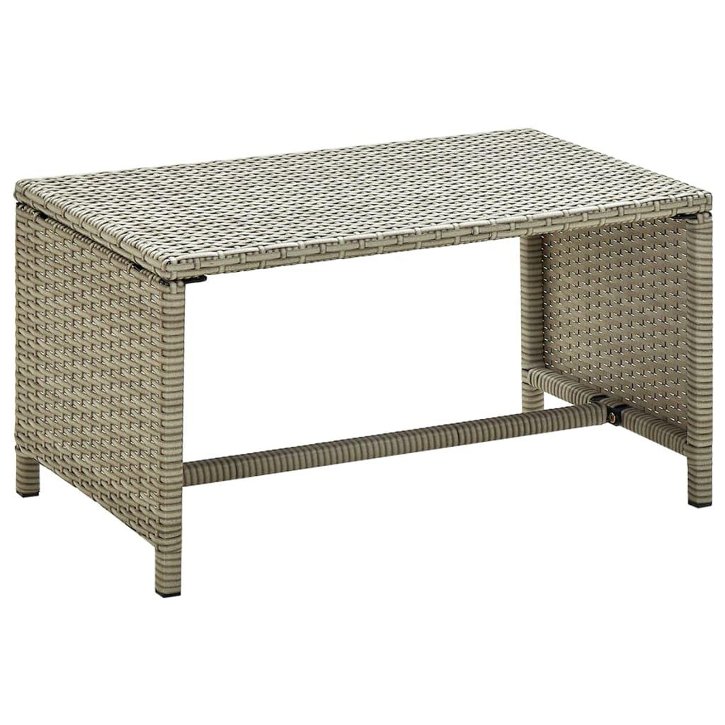 Konferenční stolek béžový 70 x 40 x 38 cm polyratan