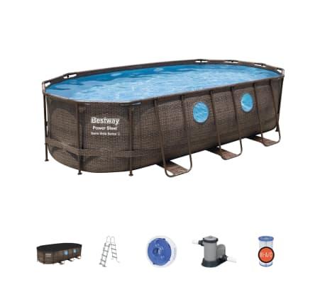 Bestway Jeu de piscine Power Steel Swim Vista Series 549x274x122 cm