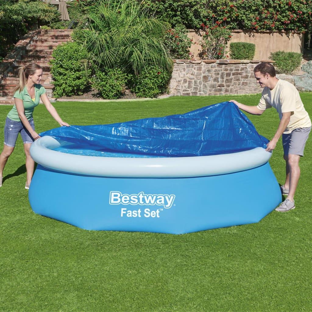 Bestway Prelată de piscină Fast Set Flowclear, 305 cm imagine vidaxl.ro