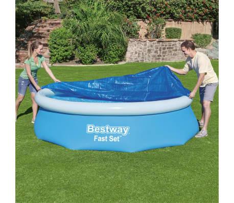 Bestway Couverture de piscine Flowclear Fast Set 305 cm[1/8]