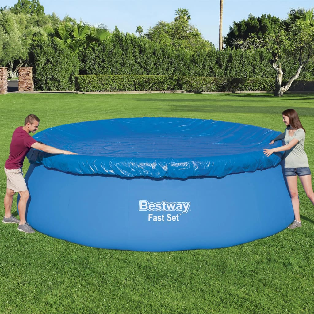 Bestway Prelată de piscină Fast Set Flowclear, 457 cm poza 2021 Bestway