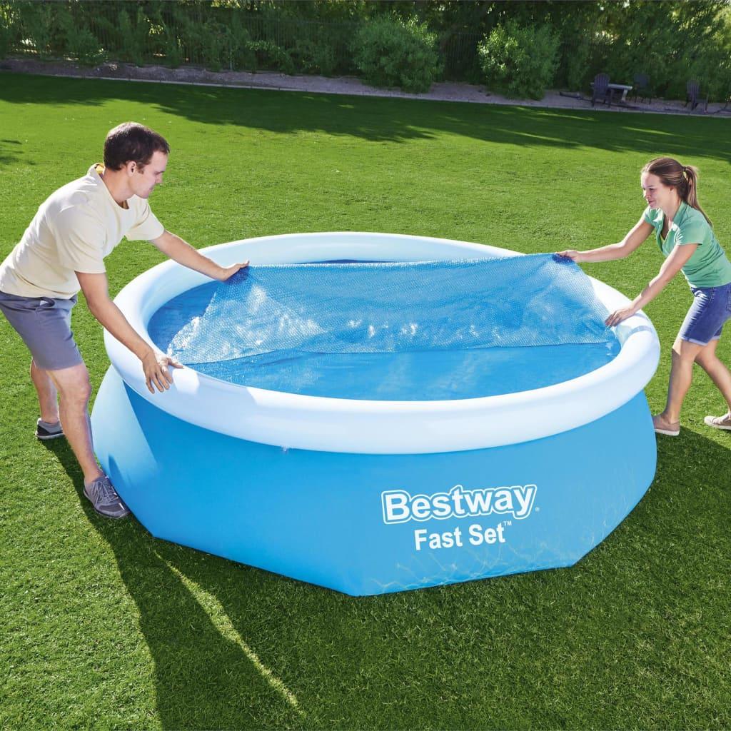 Bestway Prelată solară de piscină Flowclear, 305 cm imagine vidaxl.ro