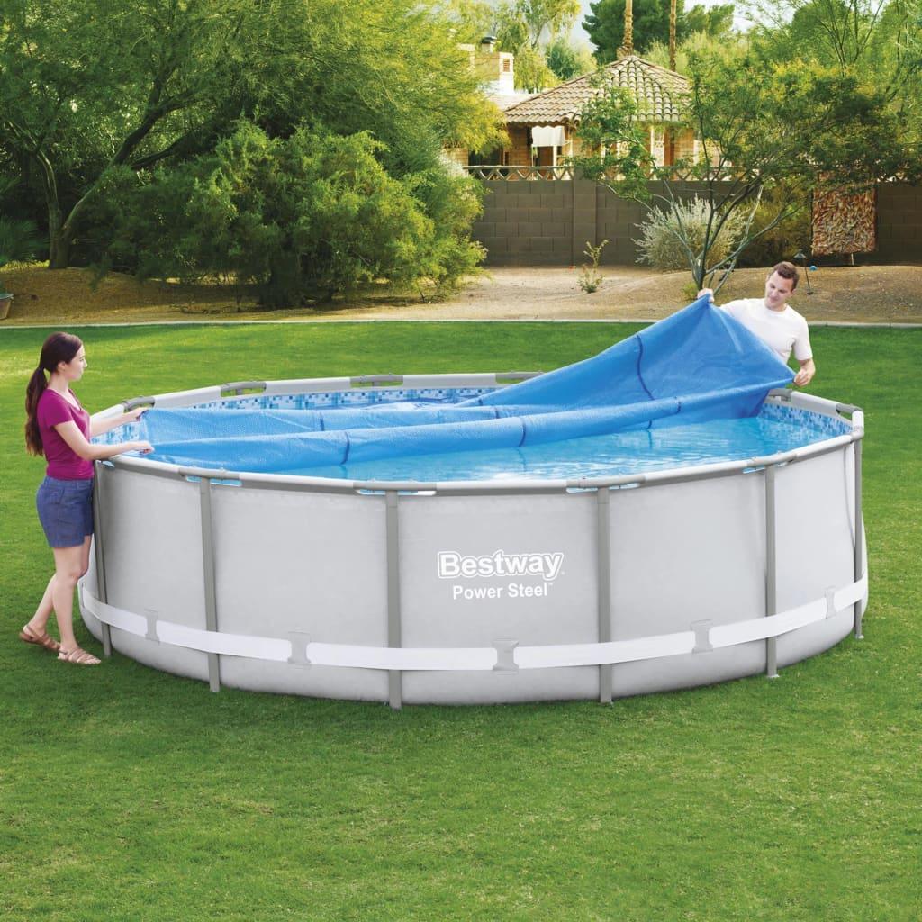 Bestway Prelată solară de piscină Flowclear, 427 cm imagine vidaxl.ro