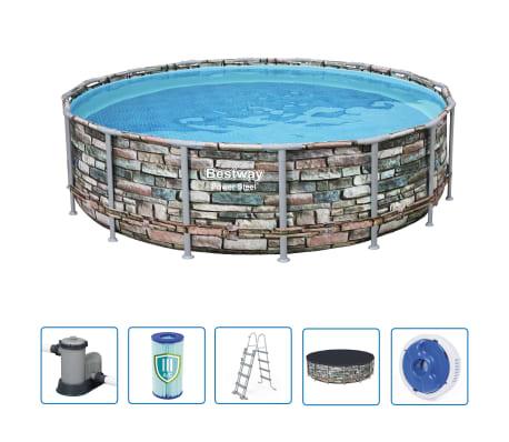 Bestway Power Steel Swimmingpool-Set Rund 488 x 122 cm