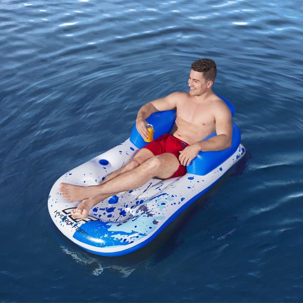 Bestway Șezlong plutitor Hydro-Force, albastru, 161 x 84 cm poza vidaxl.ro