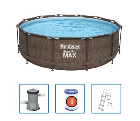 Bestway Ensemble de piscine Steel Pro MAX Cadre 366 x 100 cm
