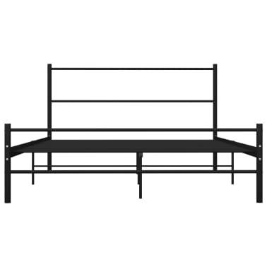 vidaXL Cadre de lit Noir Métal 140 x 200 cm[3/7]