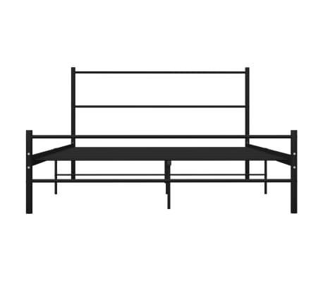 vidaXL Cadre de lit Noir Métal 160 x 200 cm[3/7]