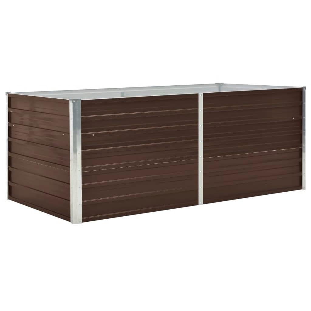 Vyvýšený zahradní truhlík 160x80x45 cm pozinkovaná ocel hnědý