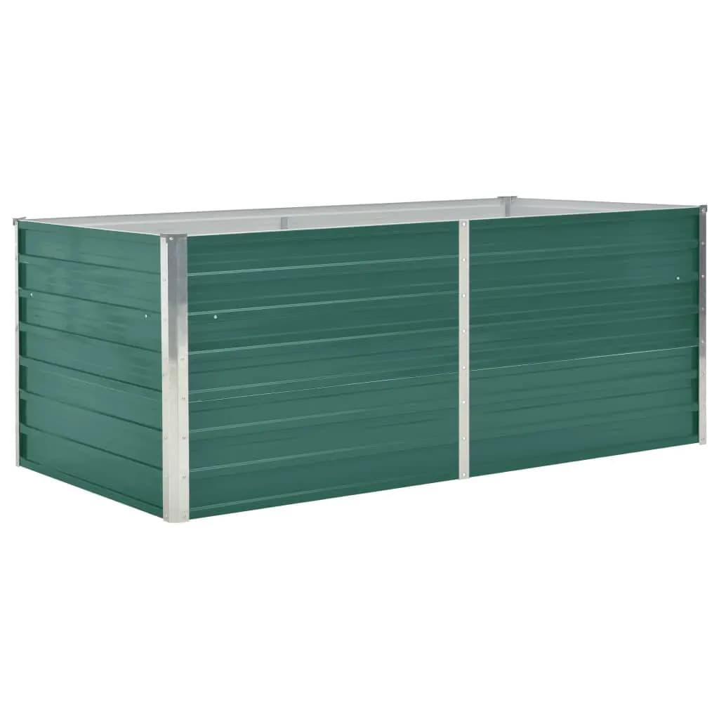 Vyvýšený zahradní truhlík 160x80x45 cm pozinkovaná ocel zelený